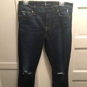 Barely worn 7 for all mankind ankle skinny sz 30